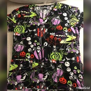 Nightmare before Christmas scrub top size M.